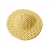 "1-3/8"" Ivory Wicker Sun Hat for Dolls"