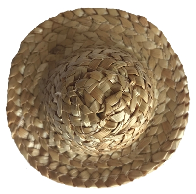 "3-1/4"" Straw Sun Hat for Dolls"