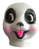 Plastic Panda Bear Animal Doll Face Mask