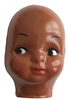 Small Black African American Girl Doll Face Mask