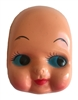 Large Head Blue-Eyed Baby Girl Doll Face Mask