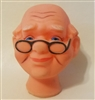 Old Man Vinyl Doll Head