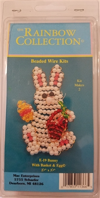 Easter Bunny with Basket & Egg Beaded Wire Kit