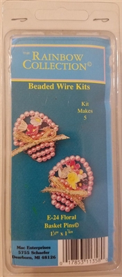 Floral Basket Pins Easter Beading Craft Kit