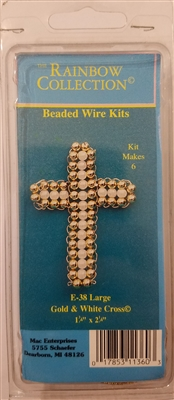 Large Gold & White Cross Beaded Wire Kit