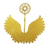 "Pair of 3"" Gold Metal Filigree Angel Wings with Halo"