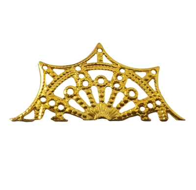 Gold Metal Filigree Scalloped Edge Trim, 4 ct Bag