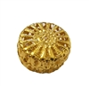Gold Metal Filigree Round Discs, 4 ct Bag