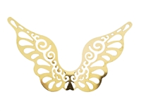 Pair of Gold Metal Filigree Angel Fairy Wings