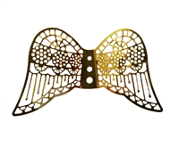 Pair of Gold Metal Filigree Angel Wings