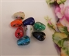 12mm Oval Teadrop Floral Glass Lampwork Beads, 8 ct Bag
