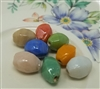 10mm Oval Faceted Glass Beads, 8ct Bag