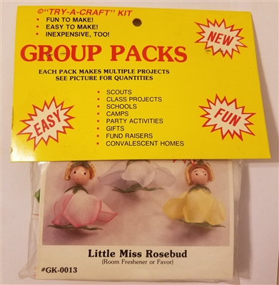 Little Miss Rosebud Doll Bead Group Craft Kit