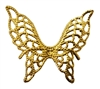 Gold Filigree Butterfly Charms, 4 ct Bag
