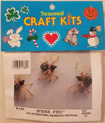 Spider Pins Beading Seasonal Craft Kit