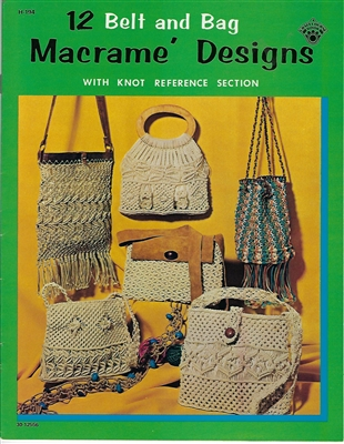 12 Belt and Bag Macrame Designs