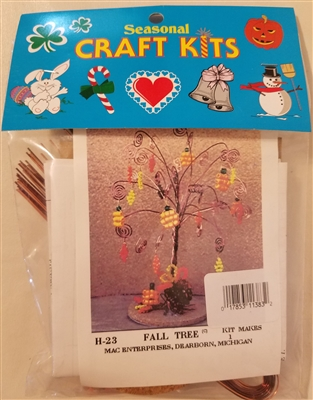Fall Tree Beaded Wire Seasonal Craft Kit