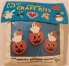 Ghostly Pumpkin Magnet Halloween Seasonal Craft Kit