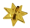 Gold Metal Star Clip-On Ornament