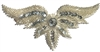 Wings Beaded Sequined Sew-On Applique