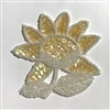 Sunflower Beaded Sequined Sew-On Applique