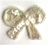 Small Bow Beaded Sequined Sew-On Applique