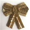 Large Bow Beaded Sequined Sew-On Applique