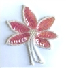 Flower Blossom Beaded Sequined Sew-On Applique