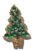 Small Christmas Tree Beaded Sequined Sew-On Applique