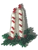 Christmas Candles Beaded Sew-On Applique