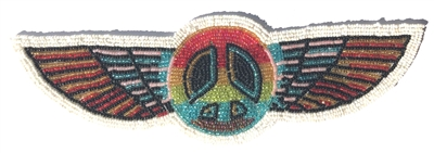 Peace Wings Beaded Sew-On Applique