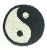Yin Yang Symbol Beaded Sew-On Applique