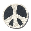 Peace Symbol Beaded Sew-On Applique