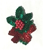 Mistletoe Christmas Beaded Sequined Sew-On Applique