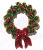 Christmas Wreath Beaded Sequined Sew-On Applique