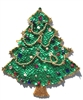 Large Christmas Tree Beaded Sequined Sew-On Applique