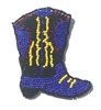 Cowboy Boot Beaded Sew-On Applique