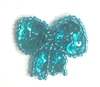 X-Small Bow Beaded Sequined Sew-On Applique, 4 count Bag