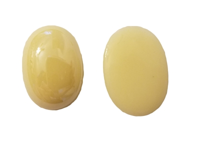 25mm x 18mm Oval Ivory Flat-Back Acrylic Half Pearls, 4 ct bag