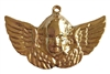 Gold Brass Cherub Angel Charm