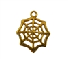 Gold Plastic Spiderweb Charms, 4 ct Bag