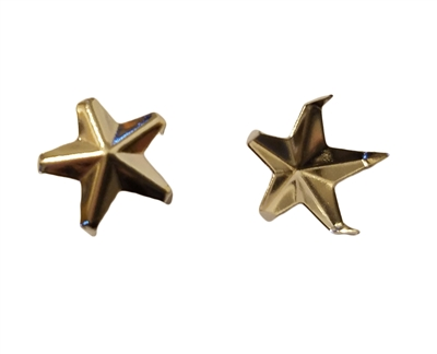 12mm Silver Pyramid Star Shaped Decorative Metal Studs, 12 ct