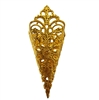 Filigree Cone Pocket Gold Tone Metal Jewelry Findings
