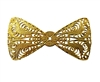 Filigree Bow Gold Tone Metal Jewelry Findings