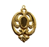 Victorian Filigree Gold Tone Metal Jewelry Findings