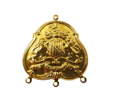 Coat of Arms Charm Gold Tone Metal Jewelry Findings