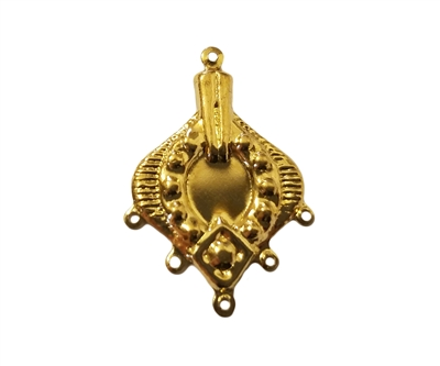 Ornate Gold Tone Metal Pendant Jewelry Findings