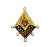 Centerpiece Pendant Gold Tone Metal Jewelry Charms Findings