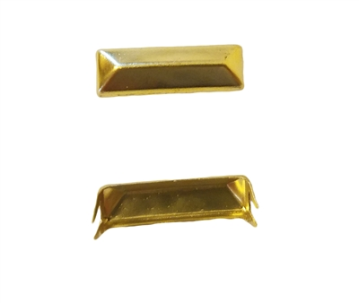 18mm Gold Pyramid Rectangle Decorative Metal Studs, 12 ct