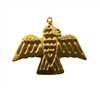 Raven Bird Gold Tone Metal Charms